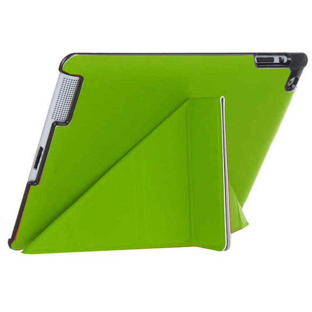 PTron Luxury Transformable Stand Crazy Horse PU Leather Flip Cover Case for iPad Air iPad 5 Green