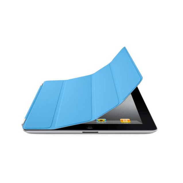 PTron Luxury Transformable Stand Crazy Horse PU Leather Flip Cover Case for iPad Air iPad 5 Sky Blue