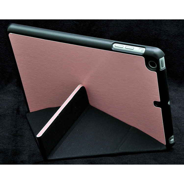 PTron Transformable Stand Crazy Horse Flip Cover Case for iPad Mini Mini 2 Light Pink