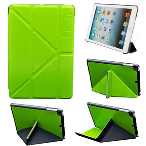 PTron Crazy Case for Apple iPad Mini 1/2/3 Luxury Transformable PU Leather Flip Cover Green