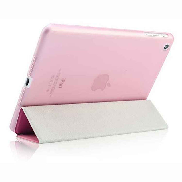 PTron Ultra Slim Smart PU Leather Flip Cover Case for Apple iPad Air iPad 5 Light Pink