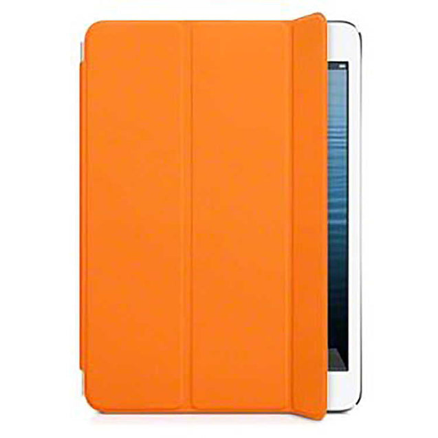 PTron Smart Cover for Apple iPad Mini 123 Ultra Slim Smart PU Leather Orange Flip Cover Case