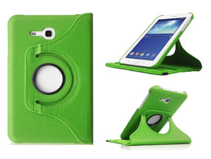 PTron Full 360 Rotating Stand Cover Case for Samsung Galaxy TAB 3 Neo T111 Green