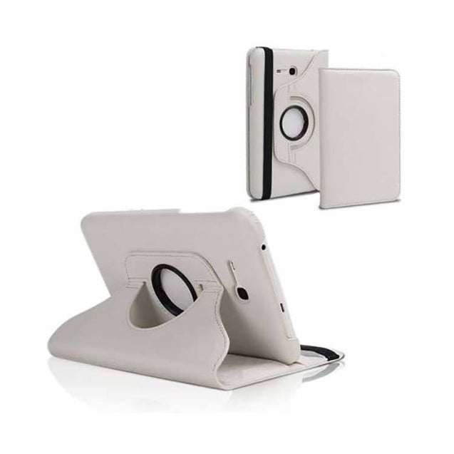 PTron Full 360 Rotating Stand Cover Case for Samsung Galaxy TAB 3 Neo T111 White