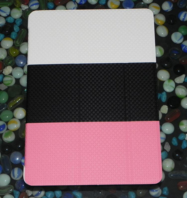 TriColor PU Leather Book Cover Case for Apple iPad Air White Black Pink