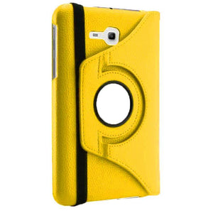Samsung Galaxy Tab 3 Neo SM T111 Full Stand 360 Rotating Cover Case Yellow