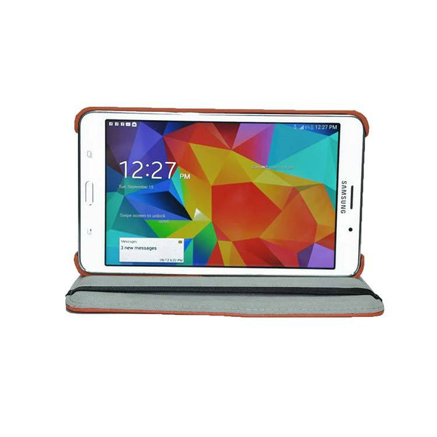 Samsung Galaxy Tab 4 Full Stand 360 Rotating Cover 7 Inch Tablet Case Orange