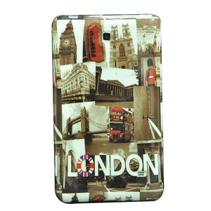 Samsung Galaxy Tab 4 T230 7 Inch Back Cover London Design Printed Soft Back Cover Case