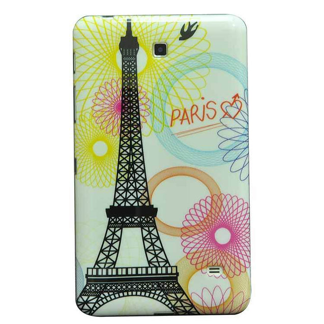 Samsung Galaxy Tab 4 T230 7 Inch Back Cover Paris Printed Soft Back Cover Case