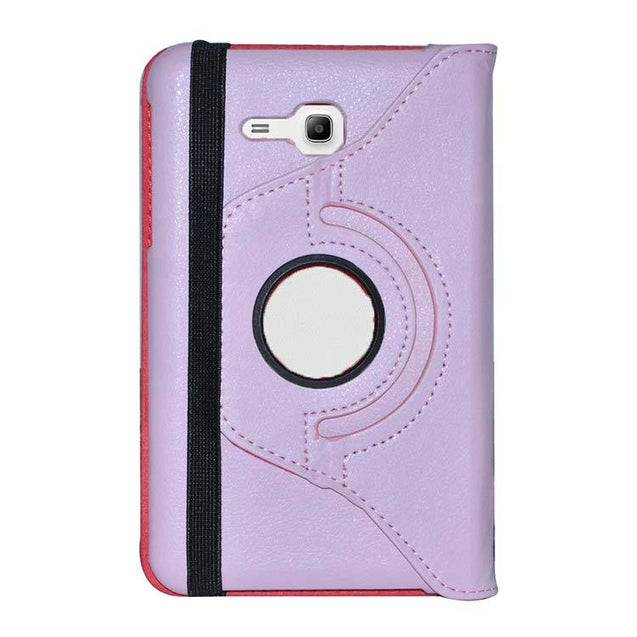 Samsung Galaxy Tab 3 Neo SM T111 Full Stand 360 Rotating Cover Tablet Case Light Pink