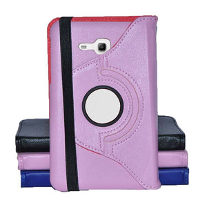 Samsung Galaxy Tab 3 Neo SM T111 Full Stand 360 Rotating Cover Tablet Case Pink