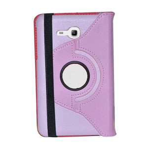 Samsung Galaxy Tab 3 Neo T111 Full 360 Rotating Cover Standy Case Hot pink With Light Pink