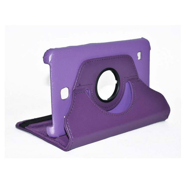 Samsung Galaxy Tab 4 Full Stand 360 Rotating Cover Tablet Case Purple With Dark Purple