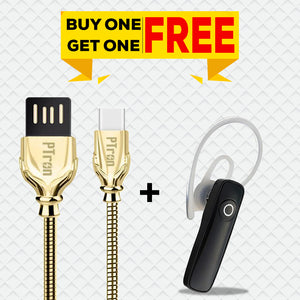 Buy Xmate Genie Mini Bluetooth Earphone, Get Falcon Pro 2.1A Micro USB Gold Cable Free