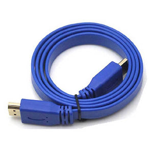 PTron Flat HDMI Cable 1.5 Meter Gold 1.4 Version (Blue)