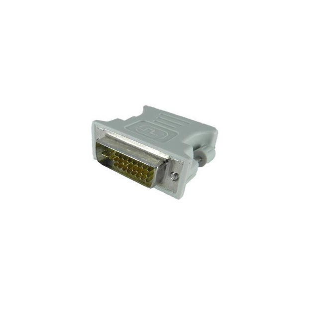 PTron DVI 24 Male To VGA 15 Pin Female Adapter Converter (White)