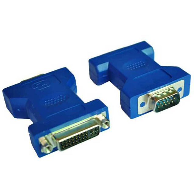 PTron DVI 24 5 Female To VGA 15 Pin Male Adapter Blue