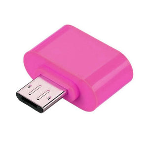 Universal Micro USB OTG Adapter OTG Connector Hot Pink