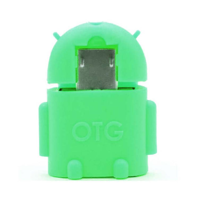 universal micro usb otg adapter android shaped otg connector for tablets and mobiles green