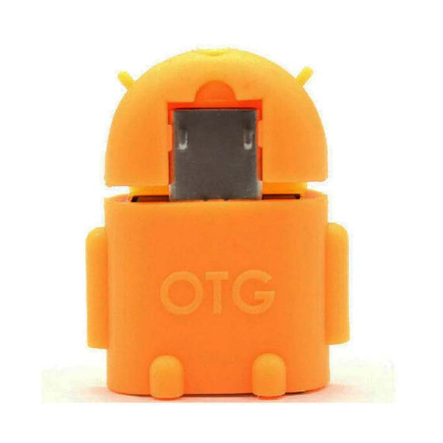 universal micro usb otg adapter android shaped otg connector for tablets and mobiles orange