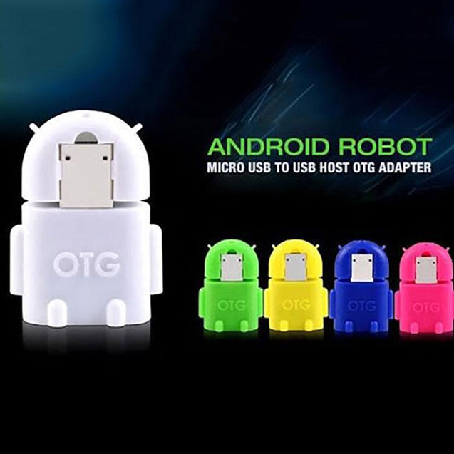 universal micro usb otg adapter android shaped otg connector for tablets and mobiles white