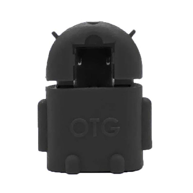 Universal Micro USB OTG Adapter Android Shaped OTG Connector For Tablets and Mobiles Black