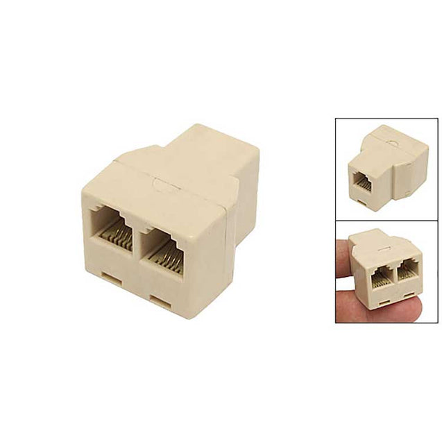 RJ11 Female to 2 Female Phone CAT3 Connector