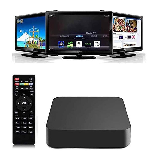 PTron Droid PC Smart TV Box roid 4.4 Kitkat H 265 WIFI 2.4GHz LAN 4K Hdmi 1G RAM 8G ROM