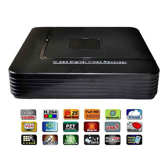 PTron Chasm 8CH H.264 DVR 8 Channel Security CCTV DVR Recorder (S1008V)
