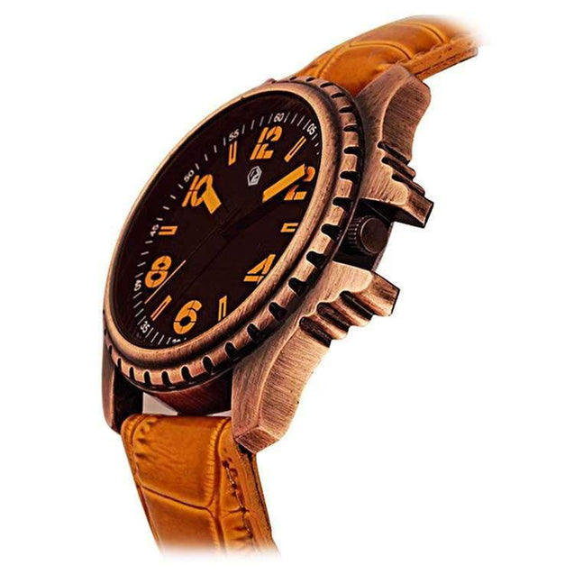 Trendy DaZon Men's Watch Unique Designed With Analog Dial Wrist Watch (Brown)