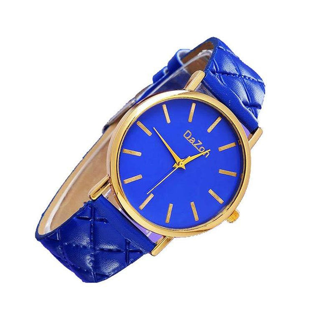 DaZon Stylish Casual Ladies Watche Analog Dial Wrist Watch (Blue)