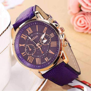 DaZon Stylish Ladies Wrist Watch Analog Dial With Leather Strap Wrist Watch