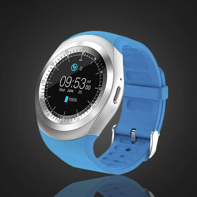 PTron Hue Bluetooth Smart Watch Wearable Android Wrist Watch For All Android Smartphones (Blue)