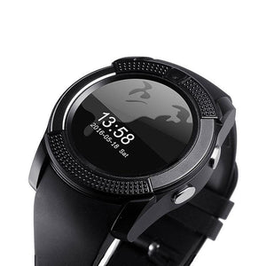 PTron Lure Bluetooth Smart Watch Support TF SIM Card Wearable Watch For Samsung Galaxy A9 Pro Black