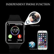 PTron Rhythm Curved Bluetooth Smart Watch With Camera Wrist Watch For All Smartphones (Black)