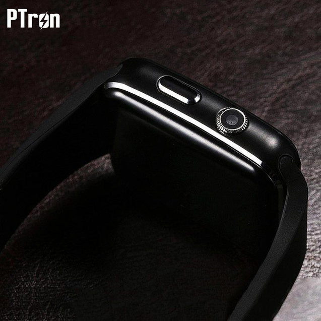 PTron Rhythm Curved Bluetooth Smart Watch With Camera Wrist Watch For Apple iPhone 6/6s (Black)