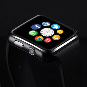 PTron Rhythm Curved Bluetooth Smart Watch With Camera Wrist Watch For All iPhones (Black)