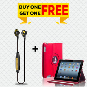 Buy PTron BT Boom 4D Bluetooth Earphones, Get iPad 5 iPad Air Rotating Case Free
