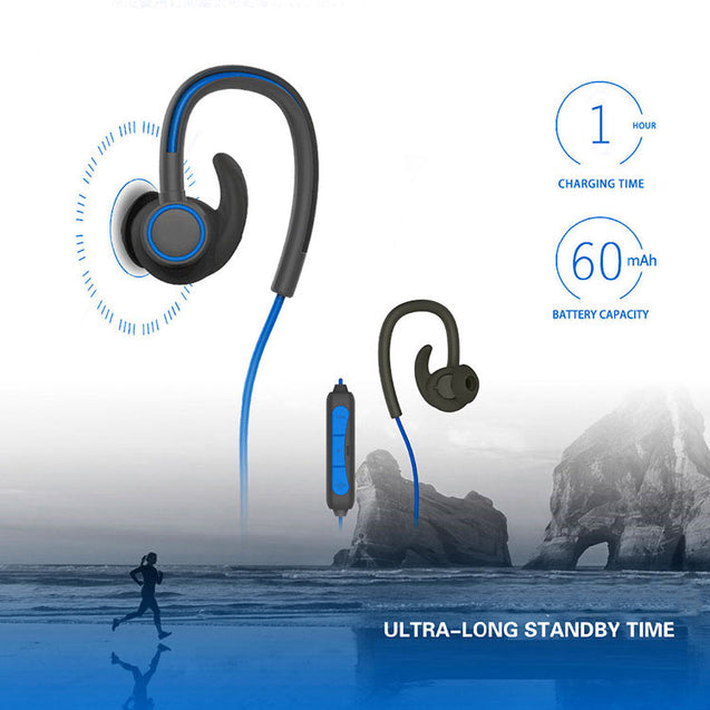 PTron Sportster In-ear Bluetooth Headset With Mic For All Lenovo Smartphones (Blue)
