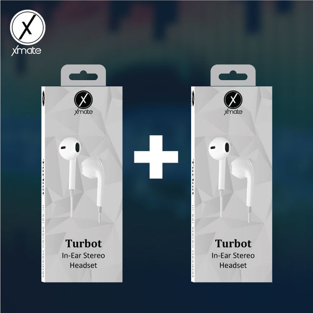Combo Of Two Xmate Turbot In-Ear Earphone Deep Bass Mic Headphone For All Smartphones (White)