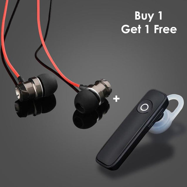 Buy HBE6 Earphone With Mic For Redmi Note 5 Pro And Get Xmate Genie Mini Bluetooth Earphone Free