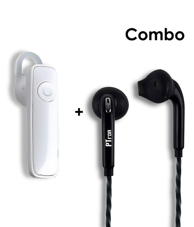 Buy PTron HBE7 Deep Bass Earphone and Get Xmate Genie Mini Bluetooth White Earphone Free