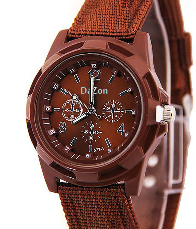 Buy DaZon Army Wrist Analog Quartz Dial Watch , Get DaZon Analog Dial Wrist Watch For Men Free