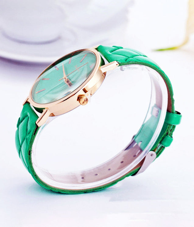 DaZon Army Analog Quartz Dial Weave Band Watch, Casual Ladies Analog Dial Wrist Watch for Couples