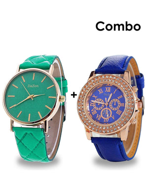 DaZon Crystal Stone Designed Analog Dial Ladies Watch And Casual Ladies Analog Dial Wrist Watch
