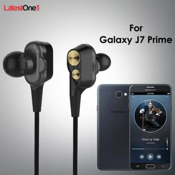 PTron Boom 2 4D Earphone Deep Bass Stereo Wired Headphone For Samsung Galaxy J7 Prime (Black/Gold)