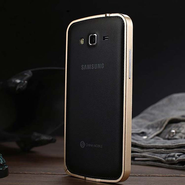 Samsung Galaxy Grand 2 Metal Bumper Case Gold