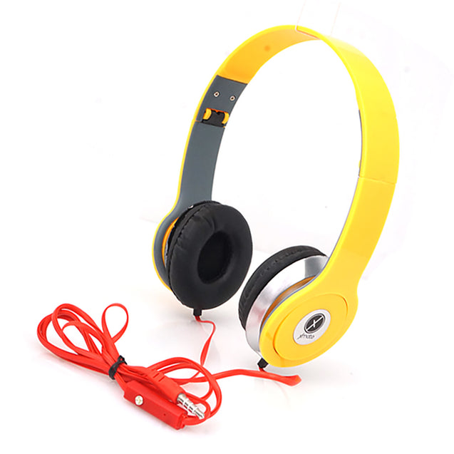 Xmate High Quality Stereo Headphones with 3.5mm Jack For All Smartphones (Yellow)