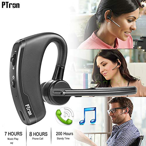 PTron Rover Bluetooth Headset With Voice control Headphone For Samsung Galaxy J7 Prime (Black)