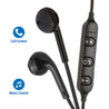 PTron Avento Bluetooth Headphones In-Ear Wireless Earphones With Mic For All Smartphones (Black)